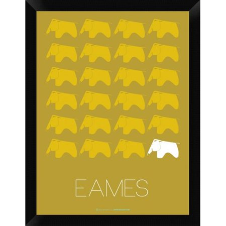 Charles Eames Elephant (Naxart 'Eames Yellow Elephant Poster' Framed Graphic Art Print on)