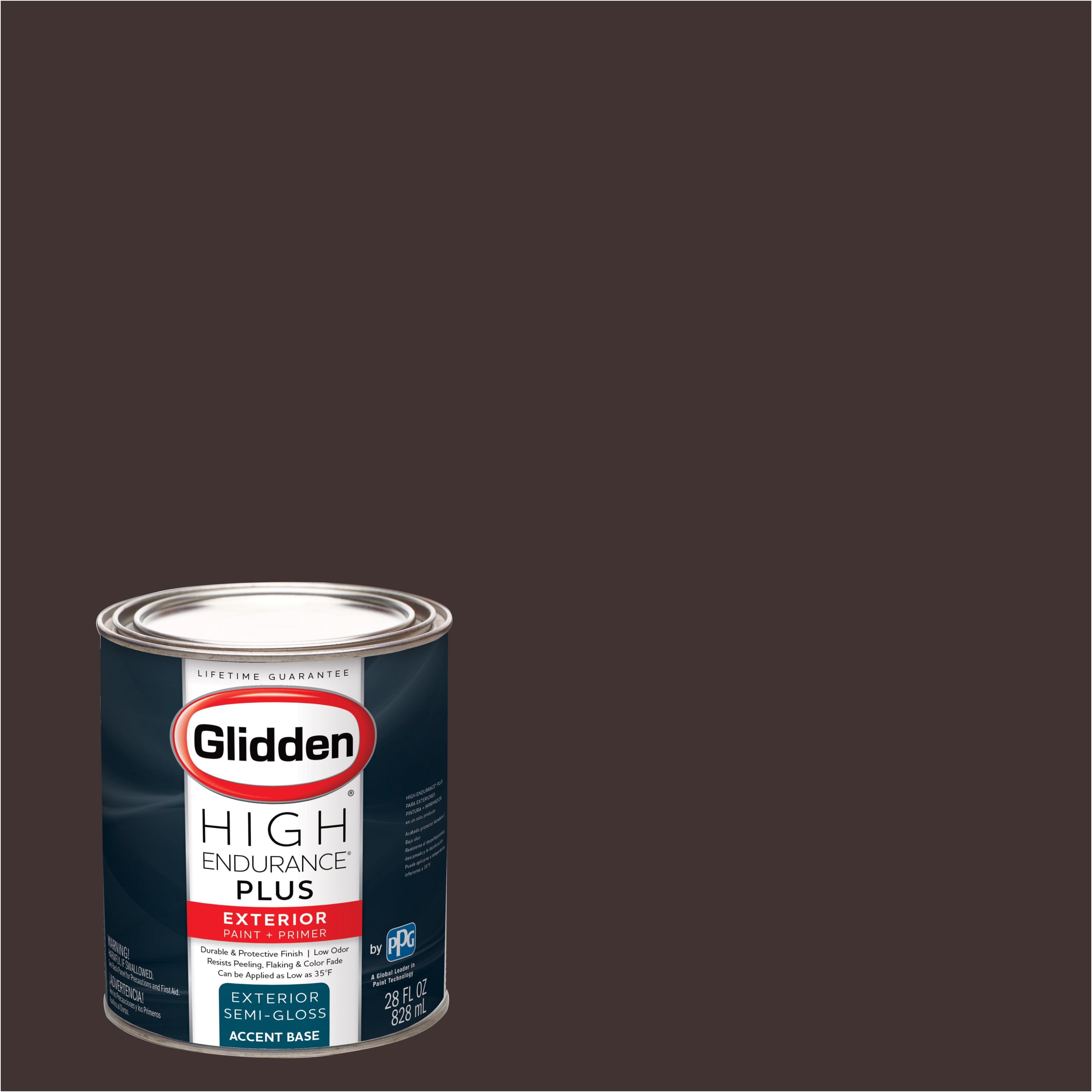 Glidden High Endurance Plus Exterior Paint and Primer, Ranch House Brown, #85RR 05/082