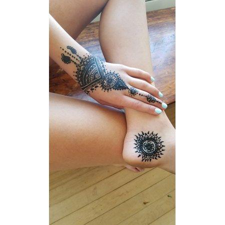 844c840e5 Henna Tattoos Henna Mehendi Design Tattoo Body Art Stretched Canvas 10 x 14  - Walmart.com