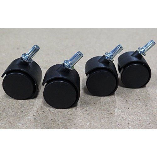 Set Of 4 Plastic Caster Wheels 3 Drawer Cart Office Storage Sterilite Black