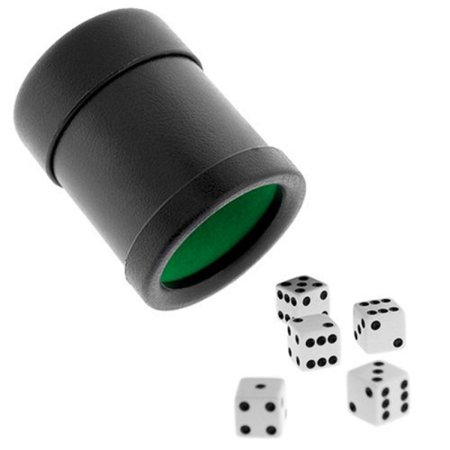 Dice Cup - Leather Looking Vinyl - Felt Lined