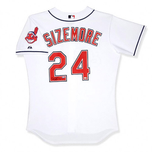 MLB - Grady Sizemore Cleveland Indians Autographed Home White Jersey