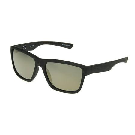 Panama Jack Men's Black Mirrored Rectangle Sunglasses (Cartier Sunglasses Men Wood)
