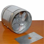 Acme Miami 9012 12 in. Duct Booster - 910 CFM - Silver