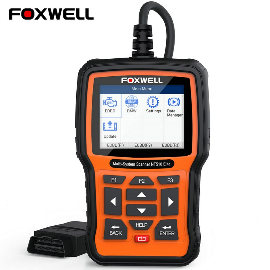 FOXWELL NT650 Elite Car OBD2 Scanner Automotive OBD II ABS Airbag Code Reader with SAS EPB DPF EPS CVT TPMS TPS Battery Registeration Oil Light Reset Auto Special Service Diagnostic Scan Tool