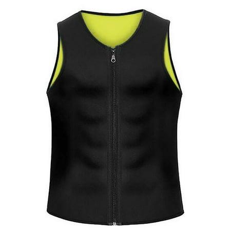 TopTie Slimming Neoprene Vest Hot Sweat Shirt Body Shapers for Weight Loss Mens-Black-M
