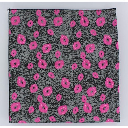 Bandana: Pink Lips/Gray Background - Bandanas For Sale