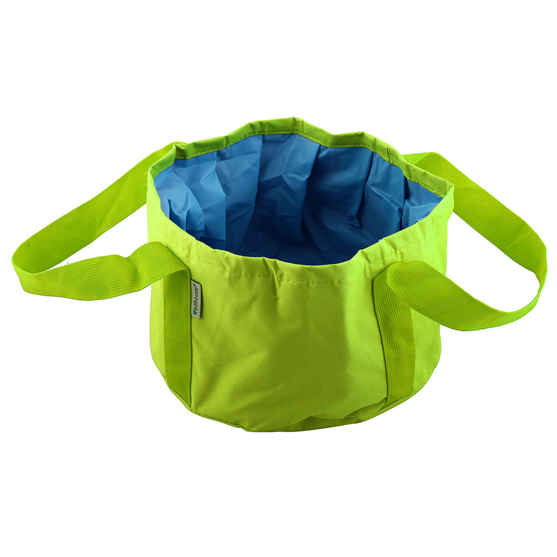 Wellhouse Authorized Folded Washbasin Washbowl Camping Bucket Green L