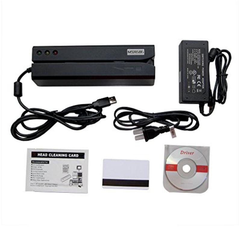 Deftun MSR606I Magnetic Stripe Credit Card Reader Writer ...