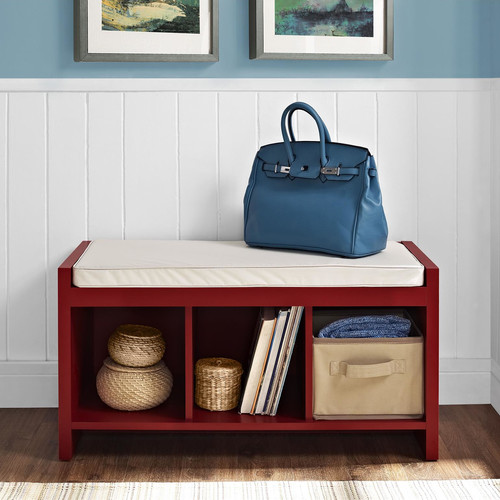 Altra Furniture Penelope Entryway Storage Bench in Red