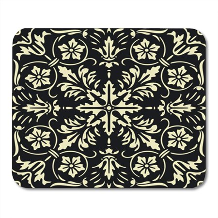 LADDKE Damask Renaissance Style French Flower Medieval Antique Gothic Abstract Baroque Mousepad Mouse Pad Mouse Mat 9x10 inch