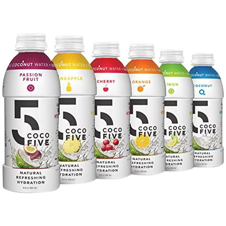 COCO5 All Natural Sports Drink with 5 Naturally Occurring Electrolytes, Multipack, 12 Pack Bottles Multi Pack 2 16.9 Ounce (Pack of