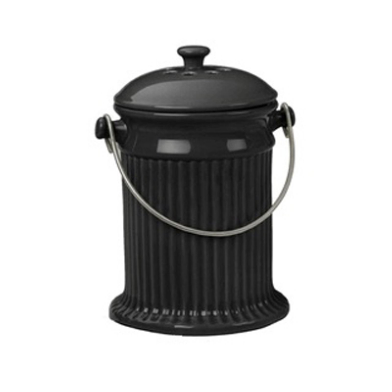 Black Ceramic Compost Crock by Uncle Jims Worm Farm