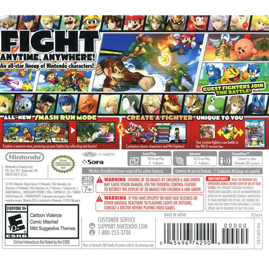 Canada Goose kensington parka replica store - Super Smash Brothers (Nintendo 3DS) - Walmart.com