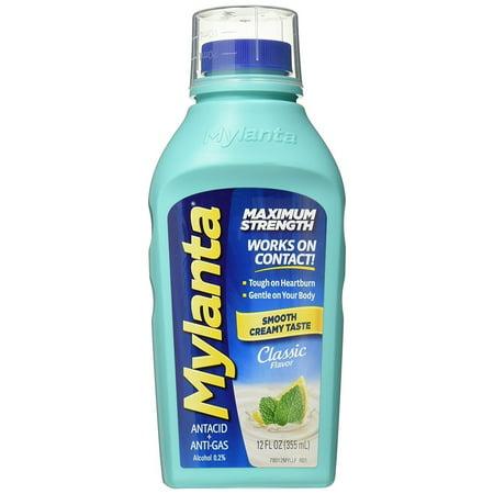 Mylanta Maximum Strength Antacid, Classic Flavor, 12 Ounce