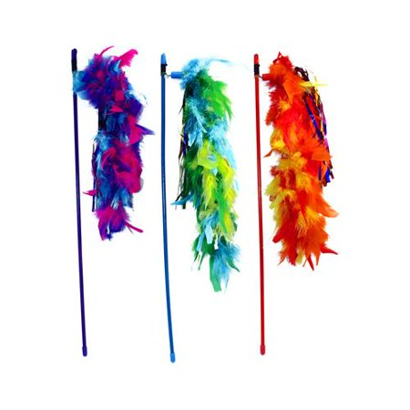 Tickle Your Fancy Wand with Feathers, Assorted, 20""