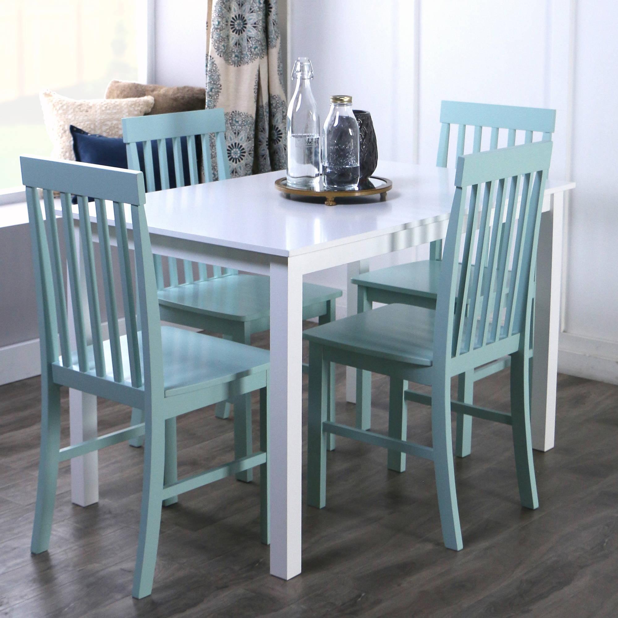Walker Edison 5-Piece Wood Dining Set - Walmart.com