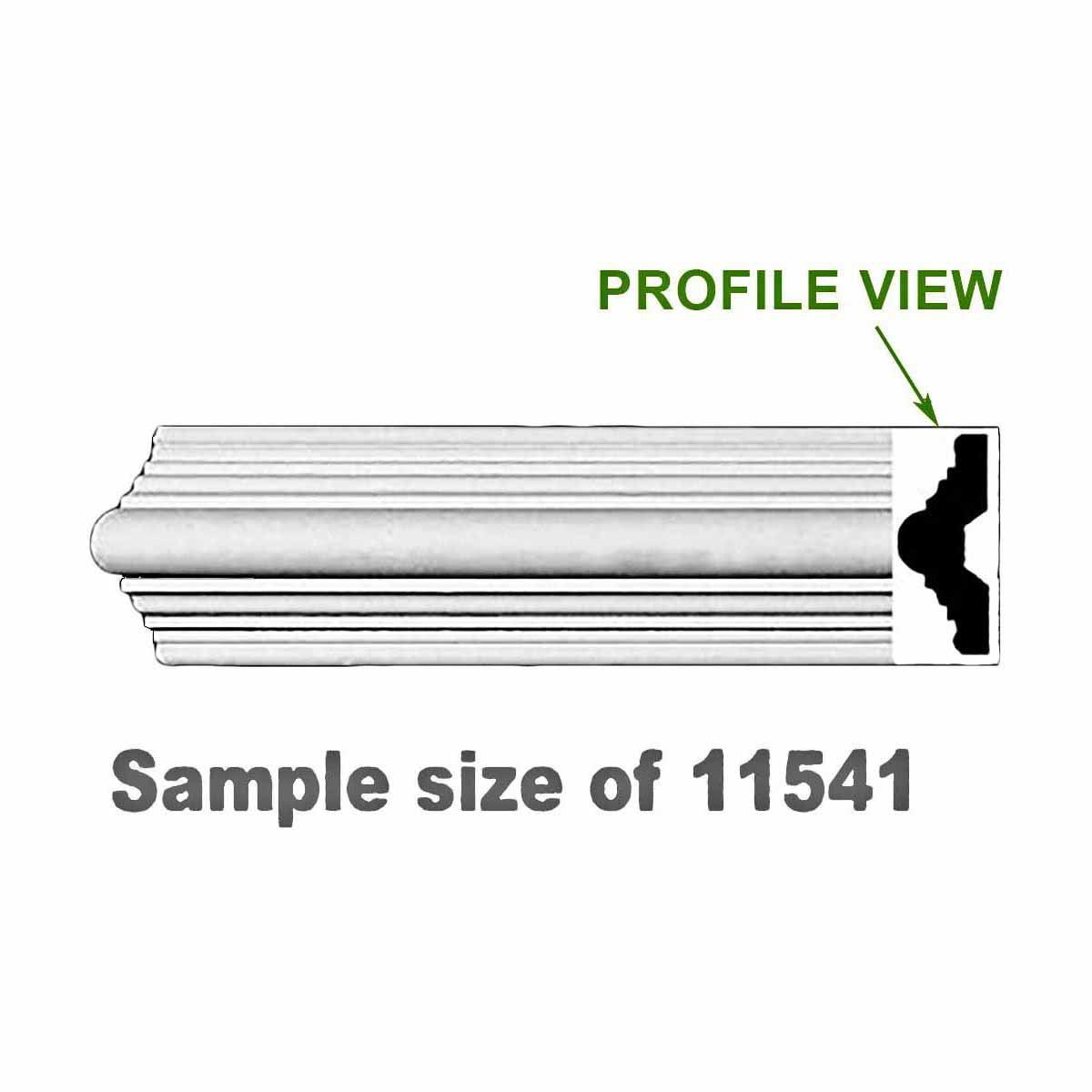 "Cornice White Urethane 23.5"" Sample of 11541 | Renovator's Supply"
