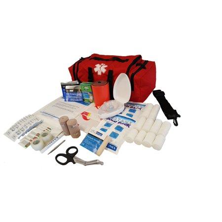 LINE2design EMS, Emergency Fire Responder Rescue Trauma First Aid Kit Bag, Lifeguard - EMT - Paramedic - Red ()