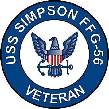 US Navy USS Simpson FFG-56 Ship Veteran Decal Sticker 5.5