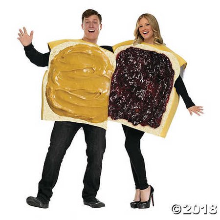 Adult Peanut Butter and Jelly Couples Costume - Peanut Butter And Jelly Couple Costume