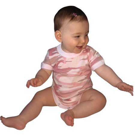 One Infant Bodysuit (New Baby Pink Camo One Piece, Infant - Toddler Bodysuit )