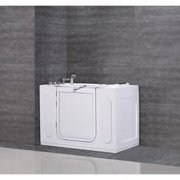 """Aston  55""""x30"""" Jetted Walk-in Tub in White with Side Panel"""