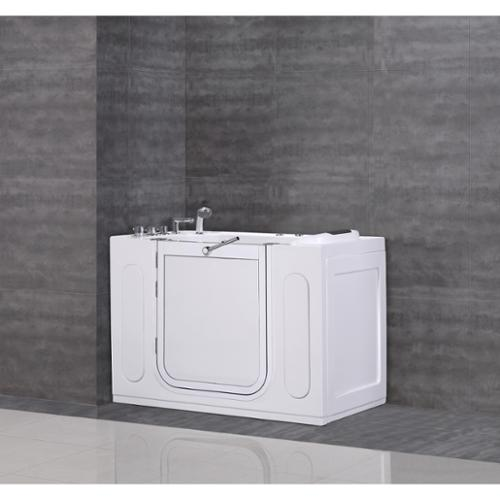 "Aston  55""x30"" Jetted Walk-in Tub in White with Side Panel"