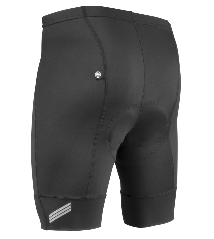 Aero Tech Men's Destination Padded Bike Shorts Black Pearl Pad and Elastic Free Cuffs by Aero Tech Designs