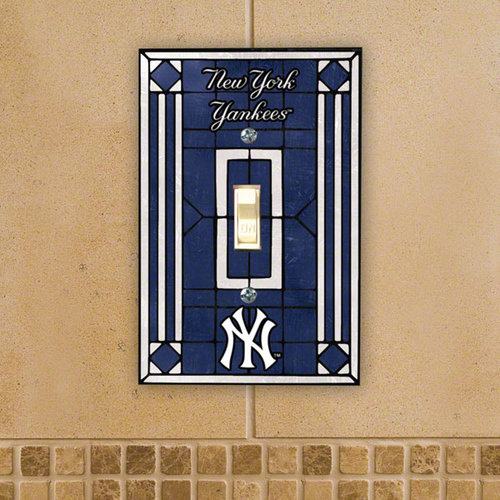 MLB - New York Yankees Light Switch Cover: Single Glass