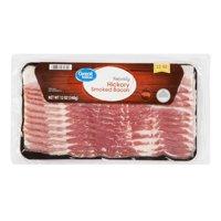 Great Value Bacon, Naturally Hickory Smoked, 12 oz