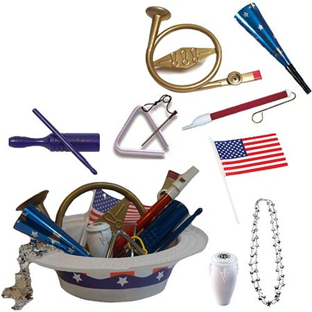 4th of July Parade Pack for Kids - Music & Fun Pack D1 (Fourth Of July Crafts For Kids)