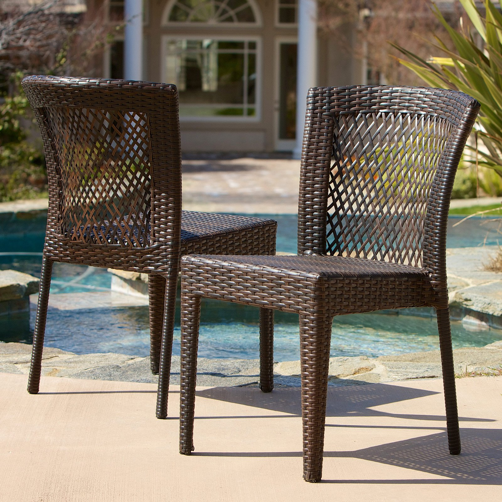Dusk All Weather Wicker Dining Chair   Set Of 2   Walmart.com