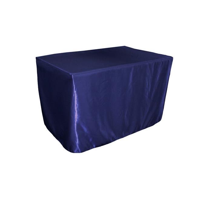 LA Linen TCbridal-fit-48x30x30-RoyalB50 Fitted Bridal Satin Tablecloth, Royal Blue 48 x 30... by LA Linen