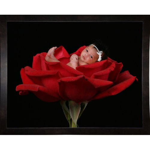 Winston Porter 'Child in Red Rose' Graphic Print