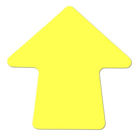 Yellow 4 inch Stick-On Colored Vinyl Directional Arrows (100 per Roll)