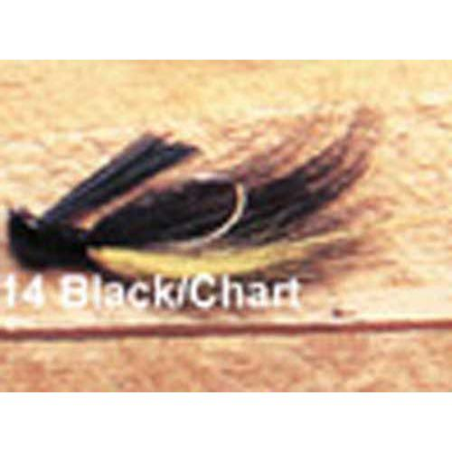 Arkie 3 8 Bucktail 6 cd Black Chartreuse by