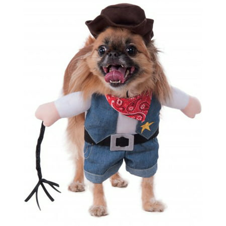 Walking Cowboy Pet Halloween Costume - Cowboys Cheerleader Costume Halloween