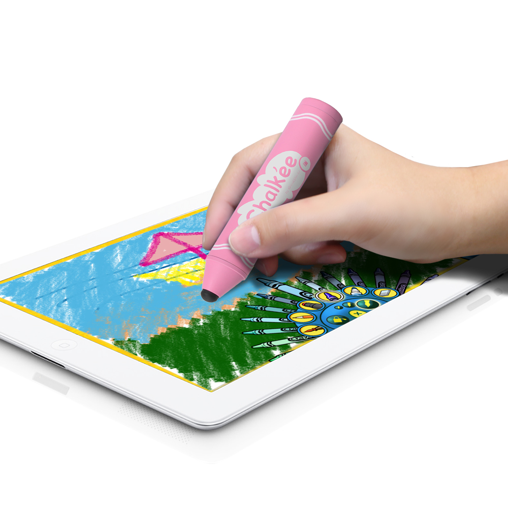 GreatShield Chalkee Kids Friendly Stylus for Touch Screen Tablets & Learning Devices (Pink)