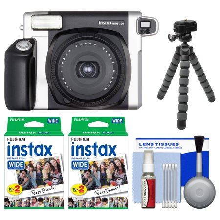 fujifilm instax wide 300 instant film camera with 40. Black Bedroom Furniture Sets. Home Design Ideas