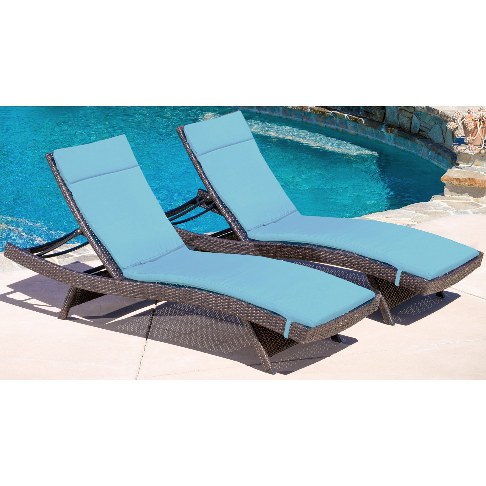 Best Selling Home Decor Avalon Wicker Patio Chaise Lounge with Cushion by Home Loft Concepts