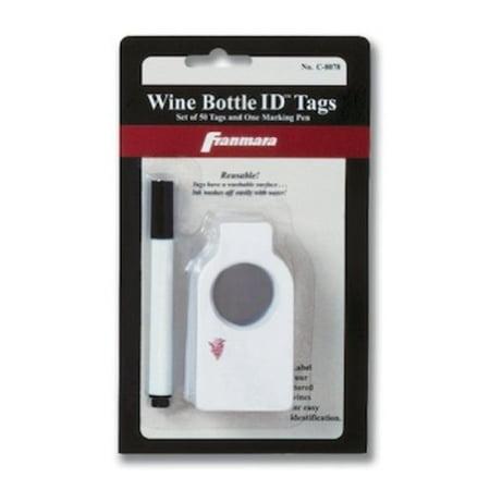 Wine Bottle Identification Tags (50 Units)](Bottle Tags)
