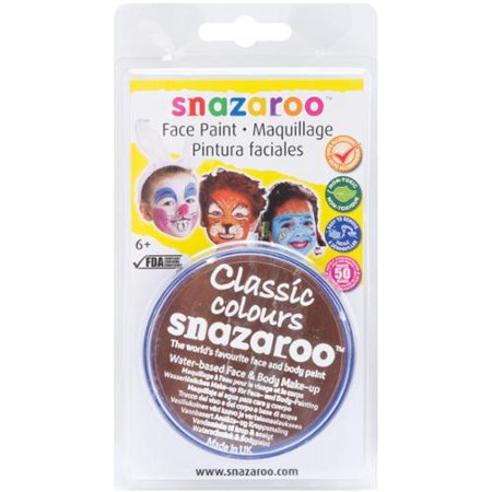 Snazaroo Face Paint 18ml-Light Brown