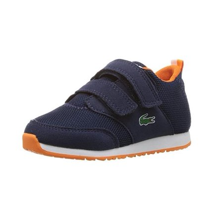 Lacoste Infant/Toddlers L.Ight 217 Sneaker, Navy Lacoste Infant Shoes