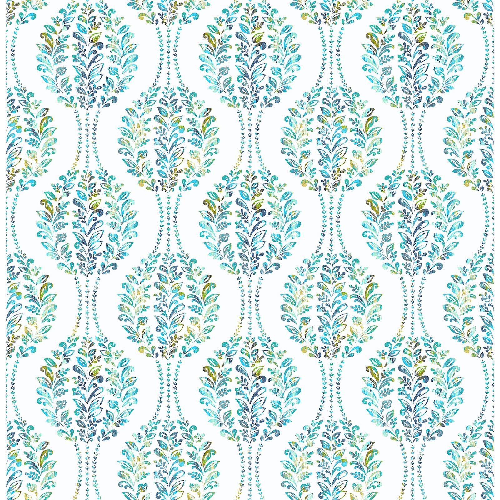 A - Street Prints Mirabelle Versailles Floral Damask Wallpaper