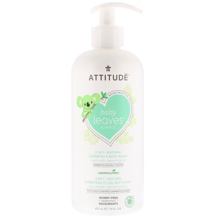 ATTITUDE  Baby Leaves Science  2-In-1 Natural Shampoo   Body Wash  Sweet Apple  16 fl oz  473 ml