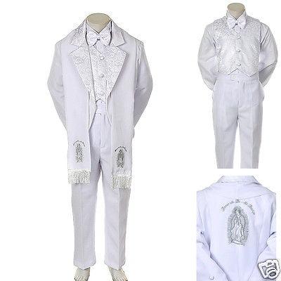 New Baby Toddler Kid Child Boy Church Christening Baptism Tuxedo Suit S-7 White for $<!---->