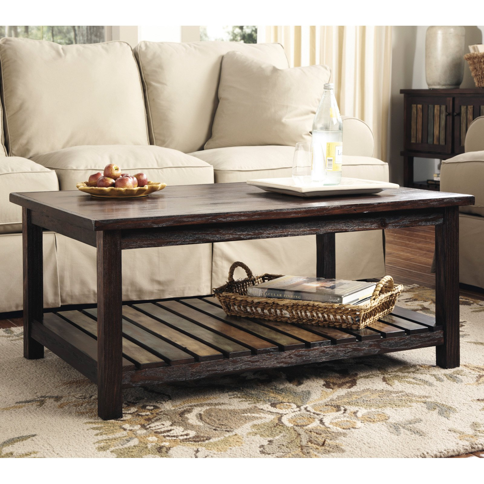 Modesto Coffee Table Rustic Natural Walmart