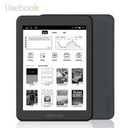 Likebook Mars 7.8 Inch Ebook Reader HD Ereader 300PPI 2G+16G Octa-Core with Carta Touchscreen 3.5mm Interface PU Leather Cover Support WiFi BT Connection 14 Languages for Reading