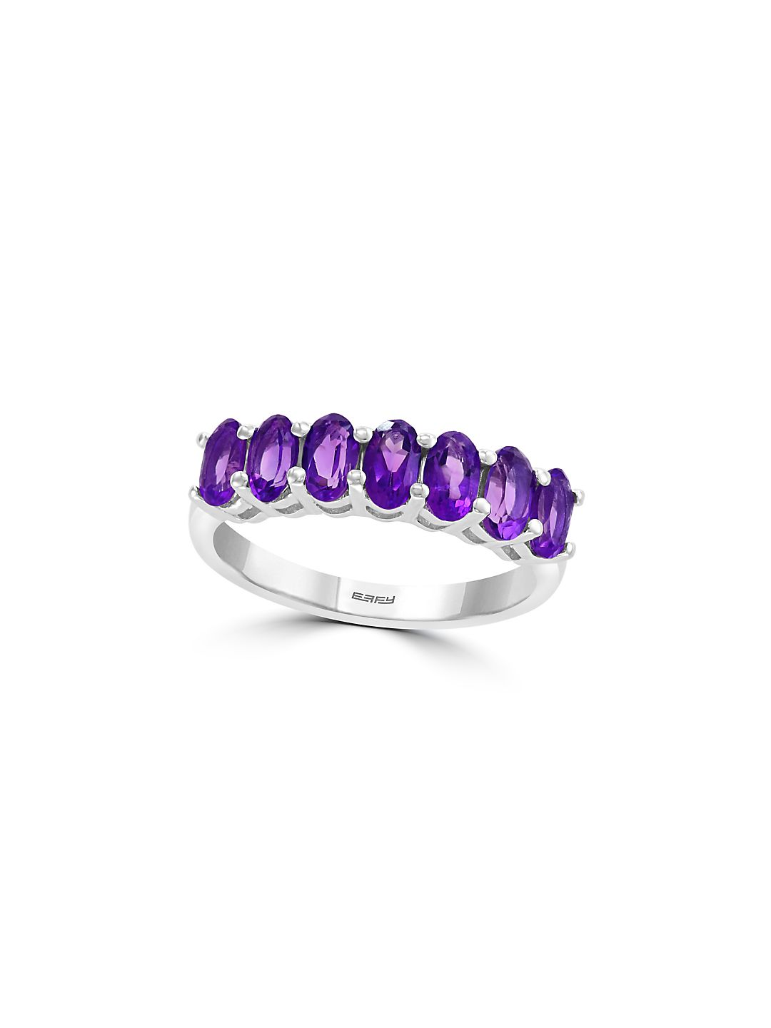 Sterling Silver & Amethyst Band Ring